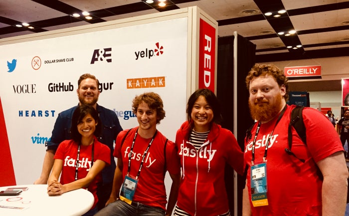 Fastly booth team photo