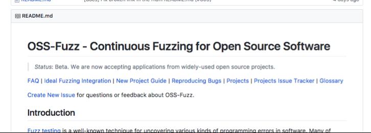 oss-fuzz integration framework