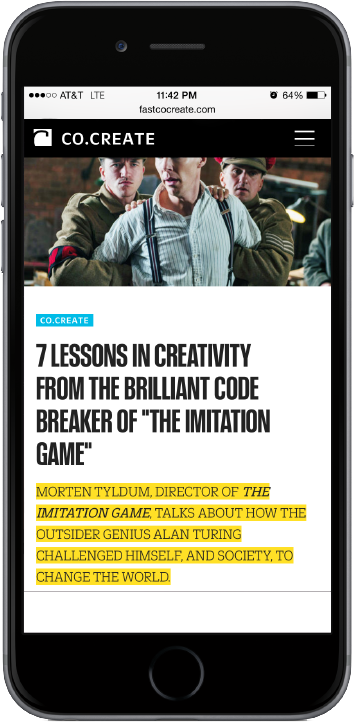 Fast Company screenshot mobile