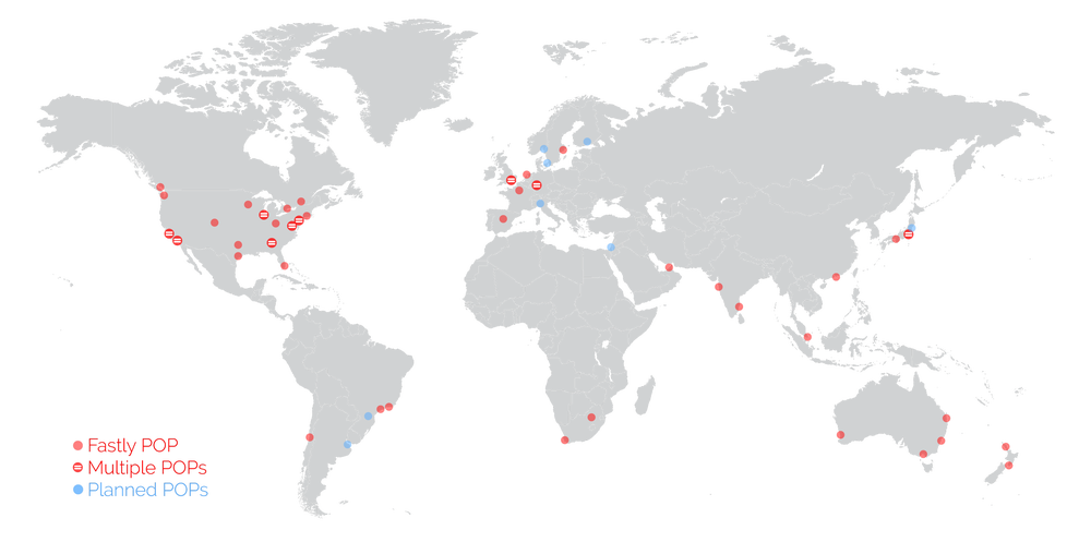 Fastly network map