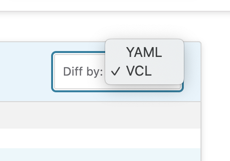 Yaml Vcl selection