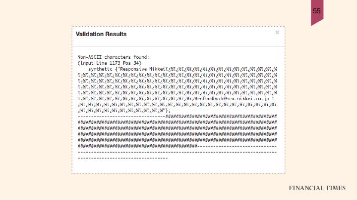 non-ASCII-results