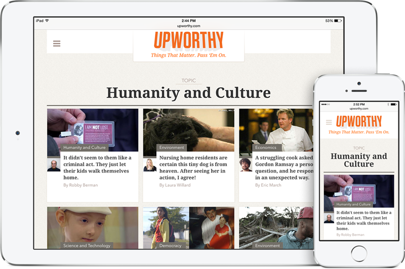 Upworthy screenshot Humanity and Culture